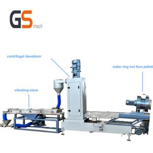 China Water Ring Pelleting System Plastic Pelletizing Process 300 - 400 Kg / H Speed supplier