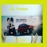 China customized animation effect el poster/ el advertising poster/ flashing poster on sale