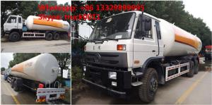 China CLW Brand 10tons LPG mobile tanker truck for sale, high quality and best price 25m3 dongfeng brand LPG gas bobtail truck on sale