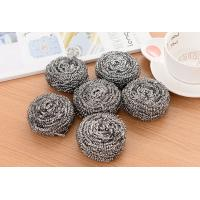 China Spiral Design Stainless Steel Scourer , 430 Sliver Color Steel Wool Scrubber on sale