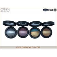 Glitter Assorted Baked Eye Shadow Palette , 3 Color Eyeshadow Palette For Dark Brown Eyes