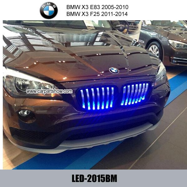 Car Auto ABS Front Grill Led Light Front Grille For BMW X3
