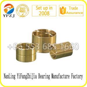 China La bague en bronze auto-lubrifiante adaptée aux besoins du client murent légèrement le type de cuivre de douille de bague d'incidence on sale