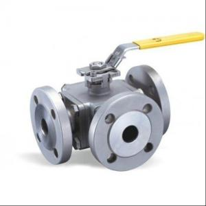 China Flange Type Hand Manual 3 Three Way Stainless Steel Ball Valve L Port T Port on sale