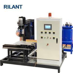 China Gluing PU Filter Making Machine Isocyanate / Polyol 2200× 1300 × 1800mm Size on sale