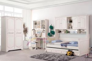 China Good quality New design white color modern children bedroom furniture 616B on sale