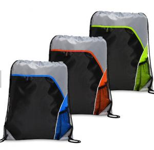 China Unique 210D Polyester Drawstring Bags , Custom Drawstring Sports Bag on sale
