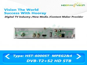 China Combo DVB T2 MPEG4 Set Top Box Digital Terrestrial TV Receiver With CAS SMS on sale