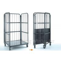Folding Steel Logistics Trolley,Storage Logistic Rolling Cage Trolley Cart