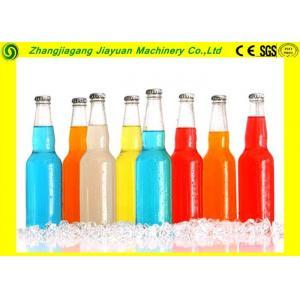 China Soft Drink Bottling Plant / Gas Liquid Glass Bottle Washing Machine on sale