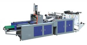 China HDPE / LDPE Film Plastic Shopping Bag Making Machines 40Pcs - 180Pcs / Min 2Kw Heating on sale