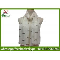 China supplier leaf print scarf 20%Cotton 80%Polyester 70*180cm shawl sun protection factory direct supply