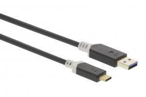 China 3.1 Type C USB Link Cable 1.0m Gold Plated Black Color For Mobile Phone on sale