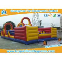 China Giant Kids Interactive Inflatable Fun City / Air Blowing Inflatable Amusement Park on sale