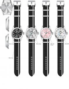 China Stainless Steel Leisure Quartz Water Resistant Wrist Watches(LH-04) on sale