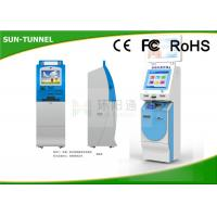 China Cash Payment Financial Services Kiosk With Credit Card & Barcode Reader on sale