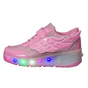 China KID LED Roller Sneakers LED Skate Shoes Children LED light luminous shoes on sale