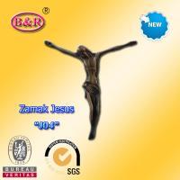 """Zamak Jesus size 10.2*11.2cm zinc alloy cross part for crucifix , No """" J04 """""""