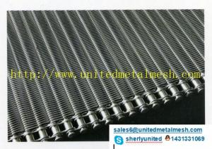 China La meilleure bande de conveyeur de spirale de fil d'acier inoxydable de qualité des meilleurs prix pour l'industrie alimentaire de congélation on sale