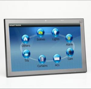 China New 10 Inch Android 6 OS Wall Mounted Industrial Control Panel With PoE and Changeable LED Light on sale