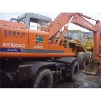 Used hitachi ex100wd-1 wheel excavator