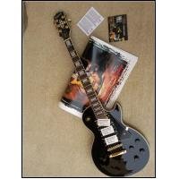 China LP Custom Electric Guitar, Mahogany Body, One Piece Neck, Black Beauty, Golden Hardware on sale