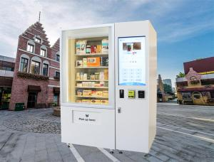 China 22 Touch Screen Self-Service Mini Mart Vending Machine Cold Drinks Food Fruit Use on sale