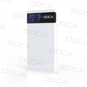 China DOCA D601 8000mah power bank ultra thin design with OLED screen on sale