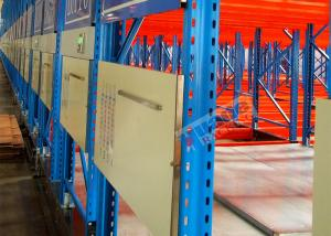 China Electric Mobile Shelving Racks , Customized Material Storage Racks ISO CE Certificated on sale