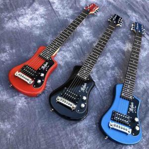 China Three color hofner Shorty mini Travel Guitar Protable beginner guitar kid Electric guitar on sale