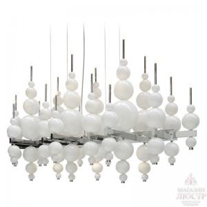 China High End Hotel Lobby Big Decorative Hanging Chandelier Lighting White and Black on sale