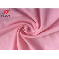 China 40D Waterproof 4 Way Stretch Nylon Spandex Fabric For Dress In Pink Color on sale