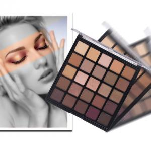 China Highly Pigment Brown Eye Shadow 25 Colors Mixed Matte and Shimmer Eyeshadow 25b on sale