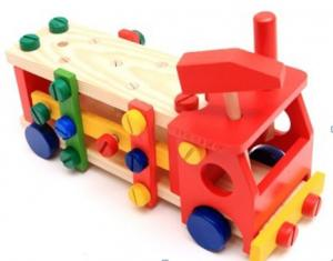 China Kid's product/toys/wooden DIY vehicle  DIY toys  toys of truck / Item:BD059 on sale