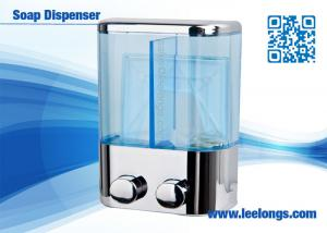 China Chromed Plated Liquid Hand Soap Dispenser Double Tank 500ml on sale