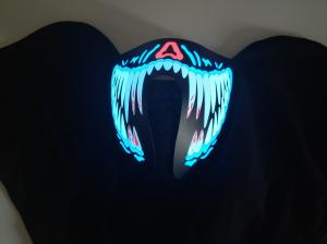 China Riding&Snowboarding led Mask  Breathable Party decoration flashing el panel sound activated Rave Mask Scary monsterteeth on sale
