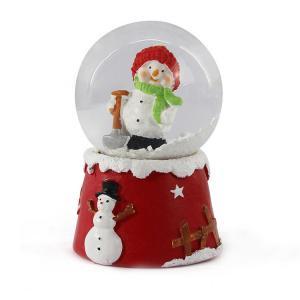 China Christmas Decoration Child Snowman Snow Globe / Multi Colour Big Snow Globes on sale