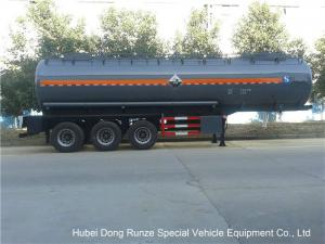 Hydrochloric Acid Tanker Semi Trailer , Chemical Road