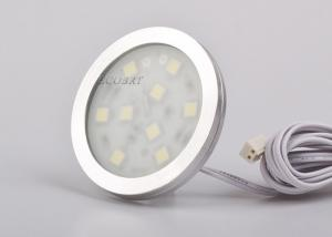 China Round under cabinet led lights Surface mount 1.8W  SMD5050 , low voltage puck lights on sale