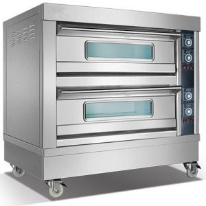 China 2 Deck 4 Pan Baker Electric Oven Commercial Electric Bread Oven Frees Tanding on sale