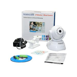 China Newest promotional model(JW0003) 2014 cheapest CMOS network p2p PT Wanscam wireless ipcam camera on sale