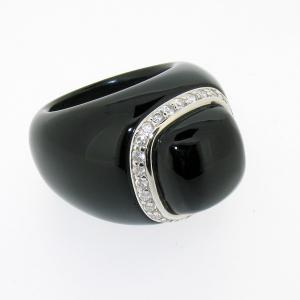 China Luxury black color 925 Silver Rings handmade sterling obsidian jewellery for Unisex on sale