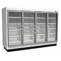 Commercial Super Market Glass Door Grocery Store Freezers CE Certificate