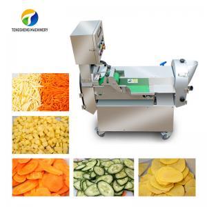 China Balsam Pear Rutabaga Industrial Fruit Slicer , Fresh Organism Vegetable Cube Cutting Machine on sale