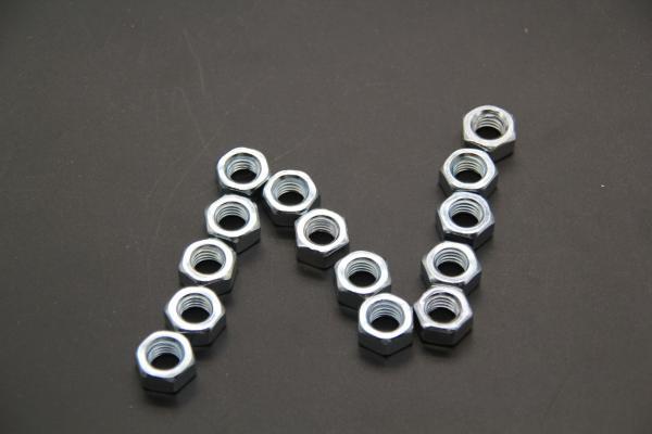 High Strength Grade 6 M4 Hex Flange Lock Nut Polishing
