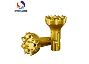 China Yellow BMK5 110 / 130 DTH Drill Bit Abrasion Resistant Carbide Material Made on sale
