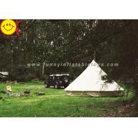 EN1790 100% Cotton Canvas Luxury Bell Tent 5m Zipperd Door For Camping