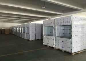 China Durable PP Fume Hood Ventilation Cupboard Vertical Raising Sash PP Worktop on sale