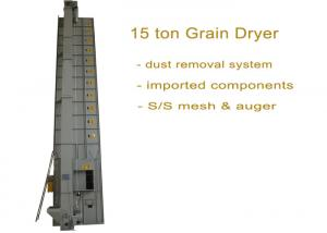 China Simple Operation Wheat Dryer Machine 15 Ton Per Batch With Imported Components on sale