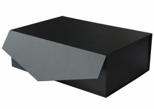 "China Luxury Large Black Gift Box 14""x9.5""x 5"", Reusable Sturdy Box Decorative Storage Boxes on sale"